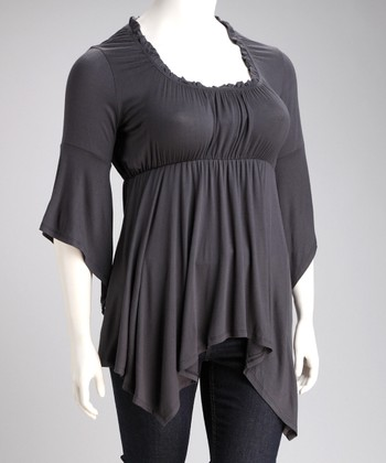 Gray Grace Top - Plus