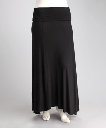 Black Jahna Maxi Skirt - Plus