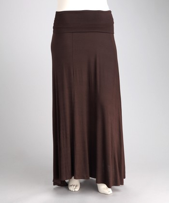 Brown Jahna Maxi Skirt - Plus
