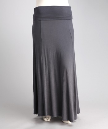 Gray Jahna Maxi Skirt - Plus