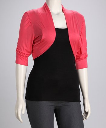Coral Jax Shrug - Plus
