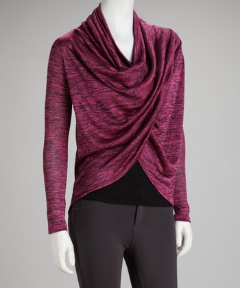 Magenta Heather Esharp Top