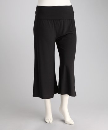 Black Zen Gaucho Pants - Plus