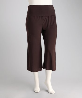 Brown Zen Gaucho Pants - Plus