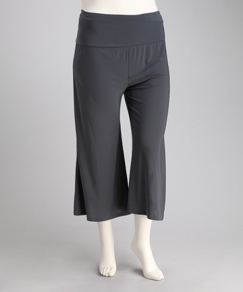 Gray Zen Gaucho Pants - Plus