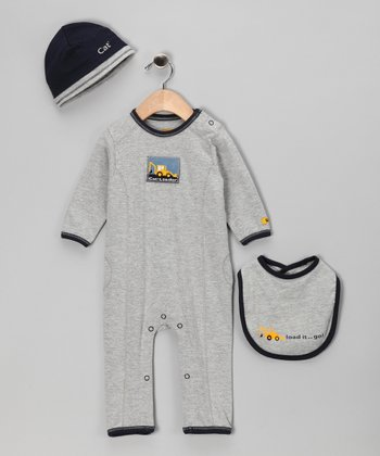 Heather Gray 'Load It' Playsuit Set - Infant