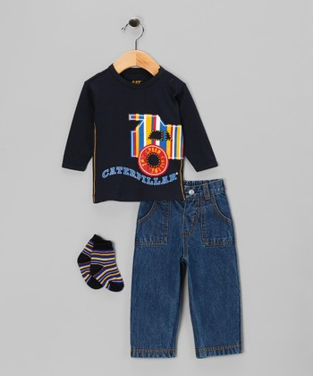 Navy Stripe Tee Set - Infant