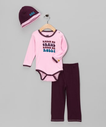 Pink 'Watch Me' Bodysuit Set - Infant