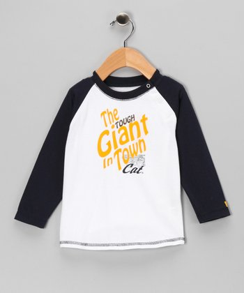 White 'Tough' Raglan Tee - Infant