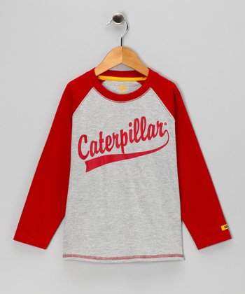 Heather Gray 'Caterpillar' Raglan Tee - Toddler