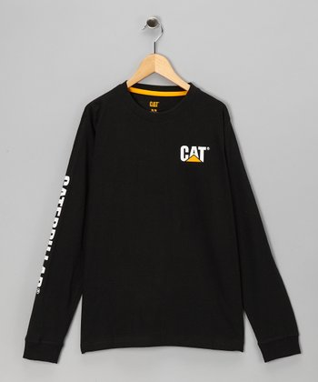 Black 'Caterpillar' Banner Thermal - Kids