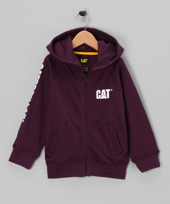 Grape Logo Zip-Up Hoodie - Kids