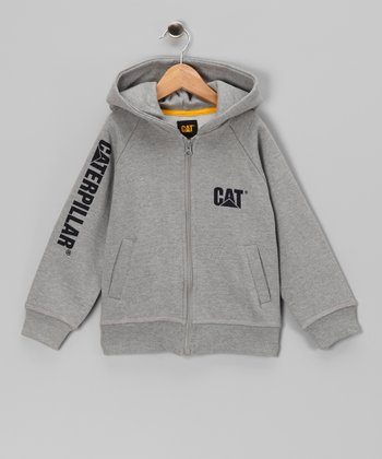 Heather Gray Banner Zip-Up Hoodie - Infant & Kids