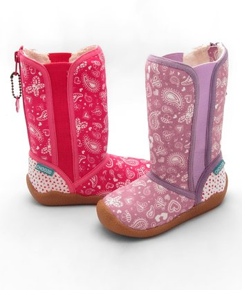 Red & Purple Burst PP Dig Boot - Kids