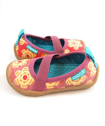 Pink & Yellow Flourish Spin Shoe - Kids