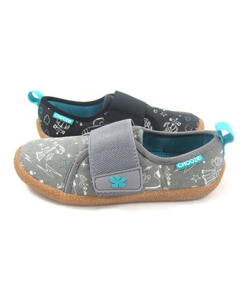 Black & Gray Frep Soar Shoe - Kids