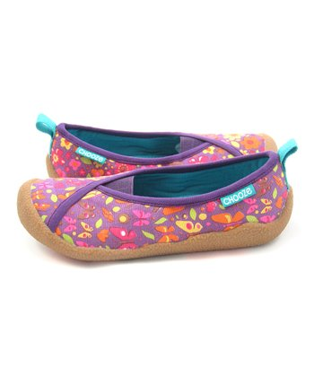 Purple & Pink Garden Laugh Shoe - Kids