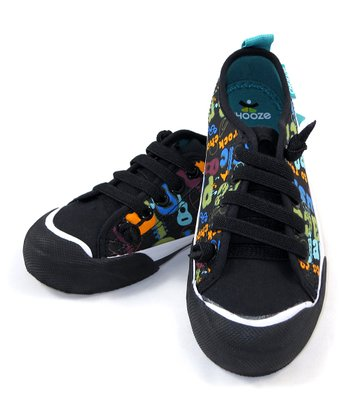 Black & Blue Jam Favorite Sneaker - Kids