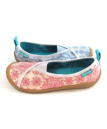 Pink & Blue Love Laugh Shoe - Kids