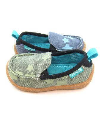 Blue & Green Peace Out Scout Loafer - Kids