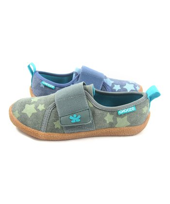 Blue & Green Peace Out Soar Shoe - Kids