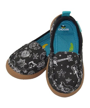 Black & White Rock Out Scout Slip-On Shoe - Kids