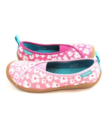 Hot Pink & Light Pink Splash Laugh Shoe