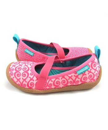 Pink & White Wiggle Spin Shoe - Kids