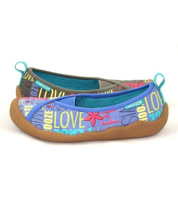 Olive & Blue Wish Laugh Shoe