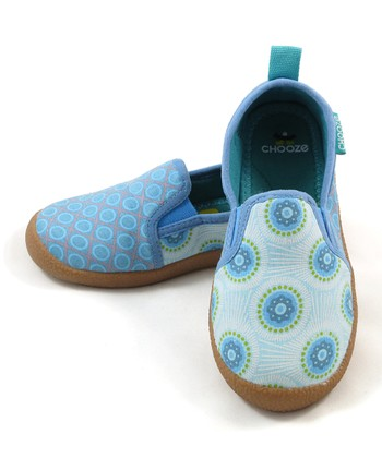 Blue & White Circle Zen Lounge Shoe - Kids