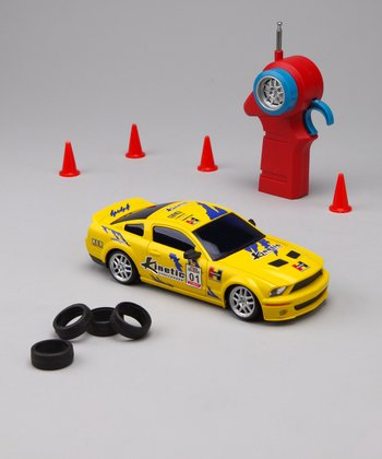 Yellow Drift Legends Mustang Remote Control Car