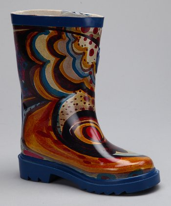 Blue & Yellow Rain Boot