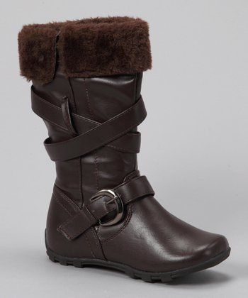 COCO Jumbo Brown Smooth Buckle Boot