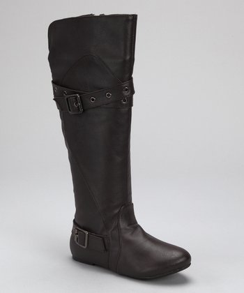 Brown Grommet Betty Boot