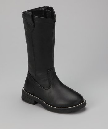 Black Stitch Candy Boot