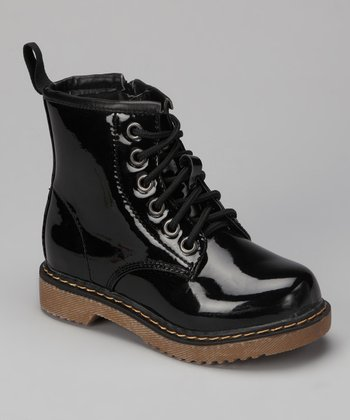 Black Patent Jane Boot