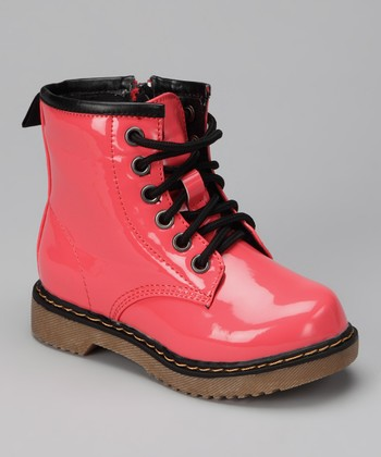 Coral Patent Jane Boot