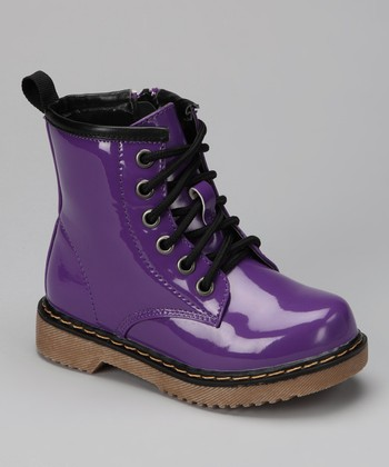 Purple Patent Jane Boot