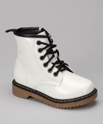 White Patent Jane Boot