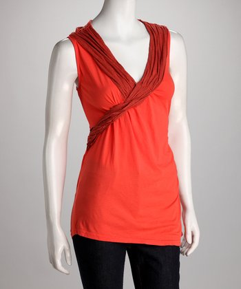 COIN 1804 Coral Surplice Top