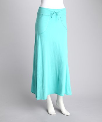 COIN 1804 Aqua Seamed Skirt