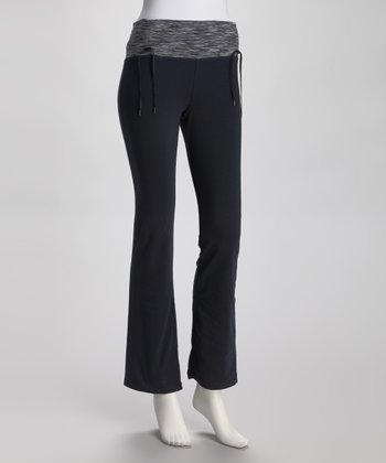 New Navy & Gray Yoga Pants