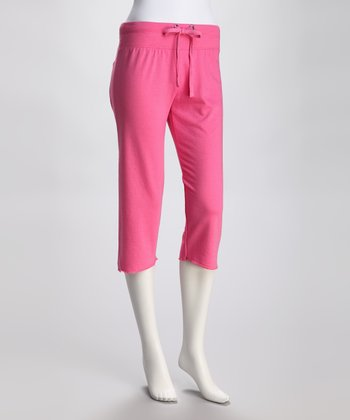 Cotton Cropped Lounge Pants