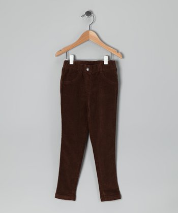 Brown Corduroy Skinny Pants - Toddler & Girls