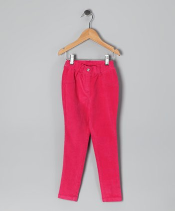 Fuchsia Corduroy Skinny Pants - Infant & Girls