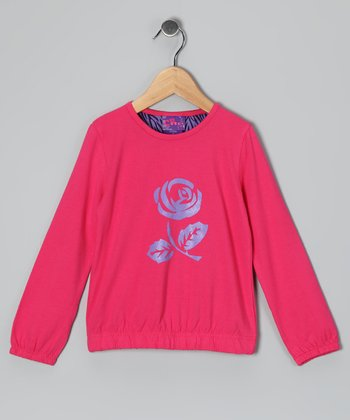 Fuchsia Rose Top - Toddler
