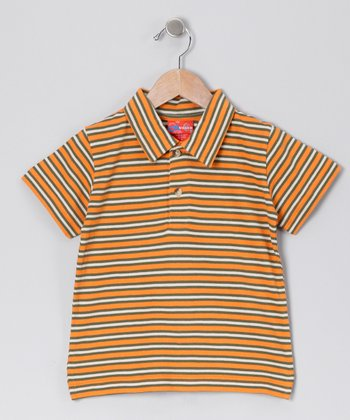 Orange Peel Stripe Polo - Toddler & Boys