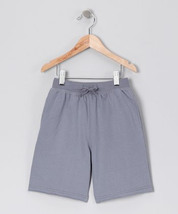 Gray Drawstring Shorts - Toddler & Boys