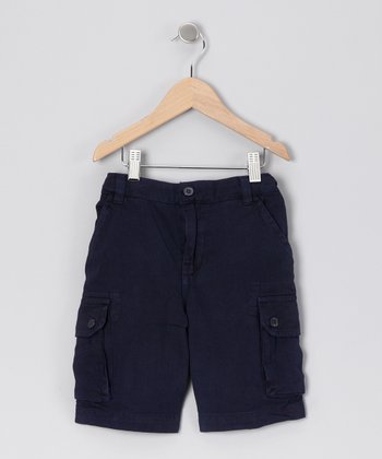 Navy Cargo Shorts - Boys