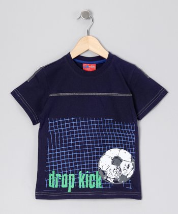Navy 'Drop Kick' Tee - Boys